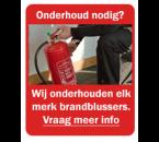 Onderhoudscontract Brandblussers