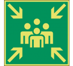 Pictogram Verzamelplaats Bordje
