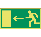 Pictogram Vluchtweg Links