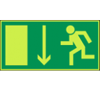 Pictogram Vluchtweg Rechtdoor