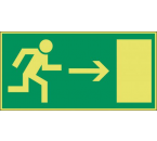 Pictogram Vluchtweg Rechts