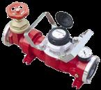 Flow meter met Afsluiter DIN 80